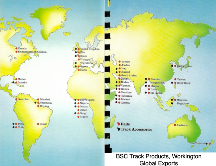 BSC Track Products map