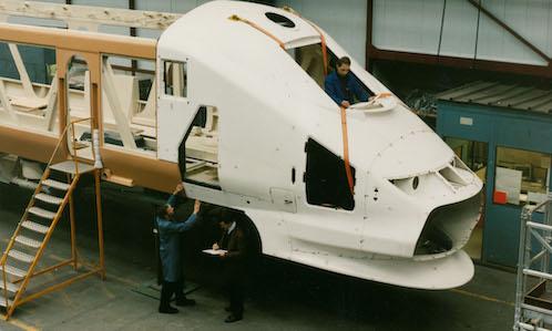 Eurostar Cab under construction