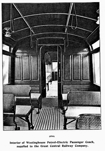 Interior of Westinghouse GCR coach