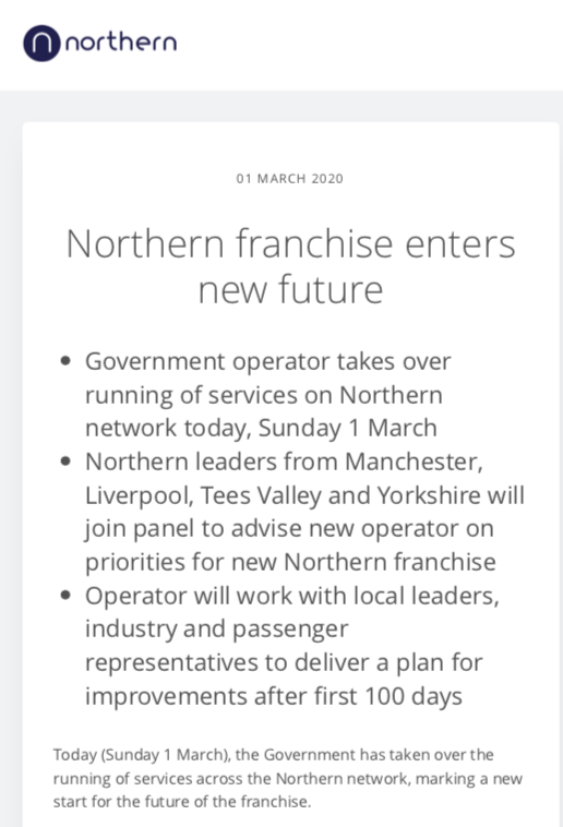 Northern press release cover