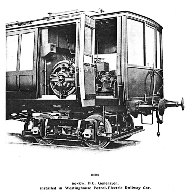 Westinghouse generator in GCR car