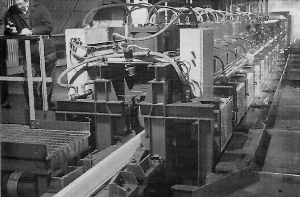 Workington Rail Mill heat treatment unit as installed in 1987