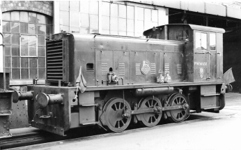 Ruston & Hornsby and its predecessors have a key place in the development of diesel traction, with the East Anglian company boasting one Richard Akroyd - a contemporary of Rudolf Diesel amongst its number. However, Ruston & Hornsby's contributions to British Rail never fully extended beyond the shunting and service locomotive stock. PWM650 is seen here sporting the earliest BR livery style - used on running department stock too. This example was the first to appear in 1953 and, in common with the Brush design, an electric motor provided the drive to the wheels. (c) Lens of Sutton