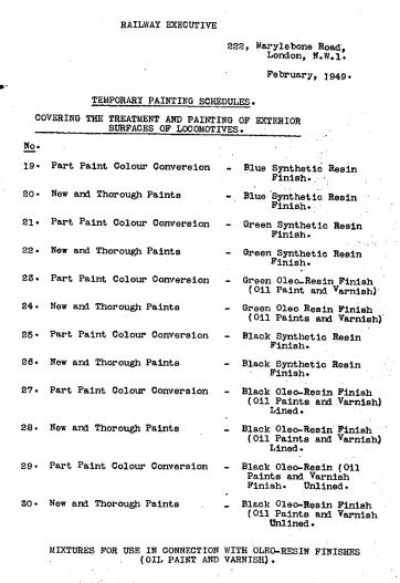 1949 schedules